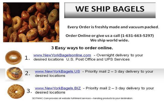 New York Bagels online we ship bagels