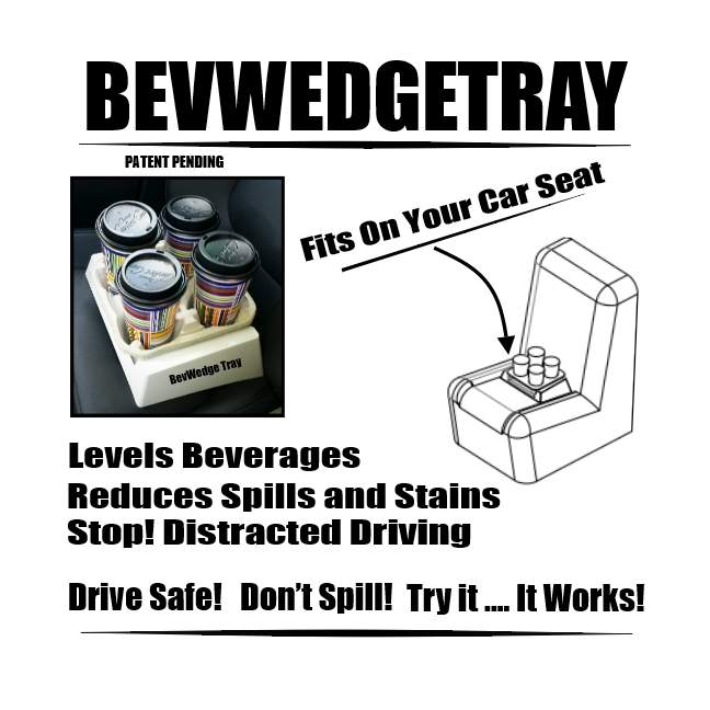 bevwedgetray for drinks on the go